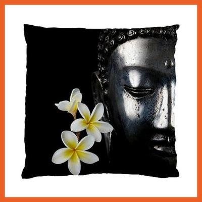 Black Buddha Cushion