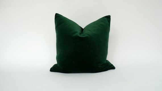 Hey, I found this really awesome Etsy listing at https://www.etsy.com/listing/181611824/forest-green-velvet-cushion-case-hunter