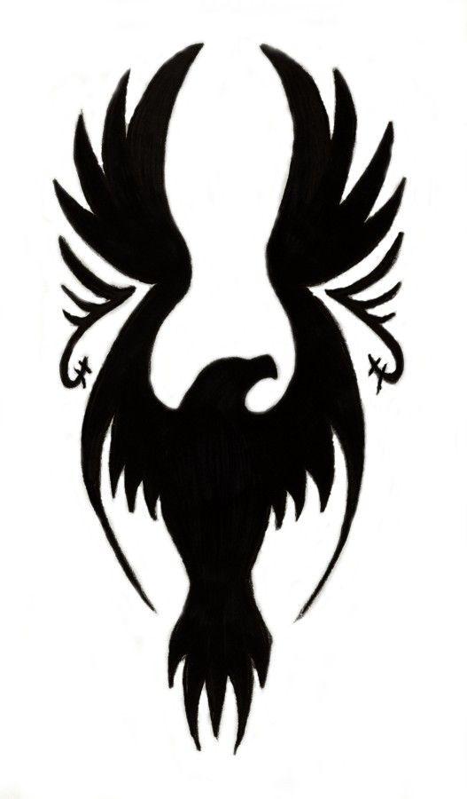 Black Eagle Tattoo Sample