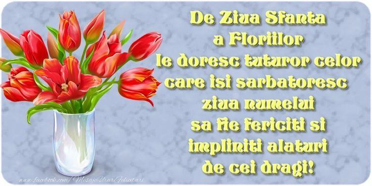 De Ziua Sfanta a Floriilor le doresc tuturor