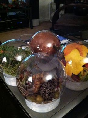 Natural materials globes- Reggio Emilia Inspired
