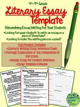 Types of literary essays