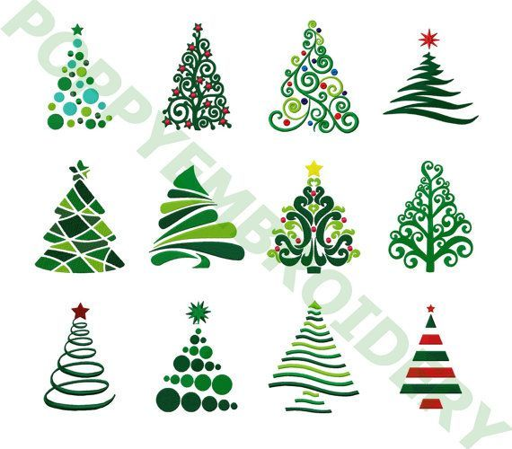 CHRISTMAS tree Designs for Embroidery machine / no…