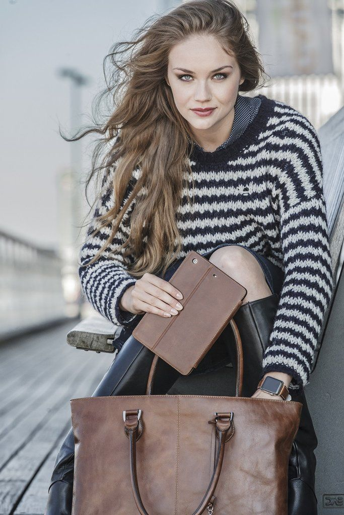 """Sophie Tan Leather Womens 15"""" Laptop Tote – Laptopbags.co.uk"""