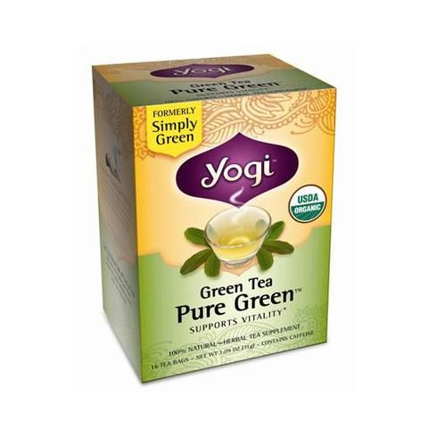 Yogi Tea Pure Green - Green Tea - Contains Caffeine - 16 Tea Bags