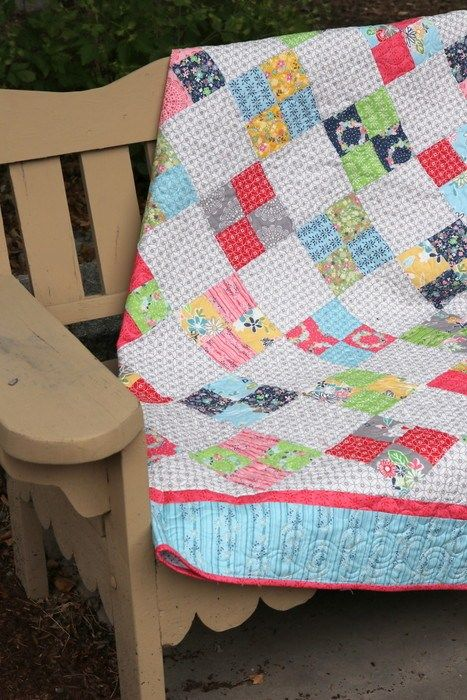On Point Four-Patch Quilt Tutorial