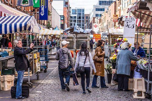 Moore Street - Famous Market Street In Dublin (Ireland)