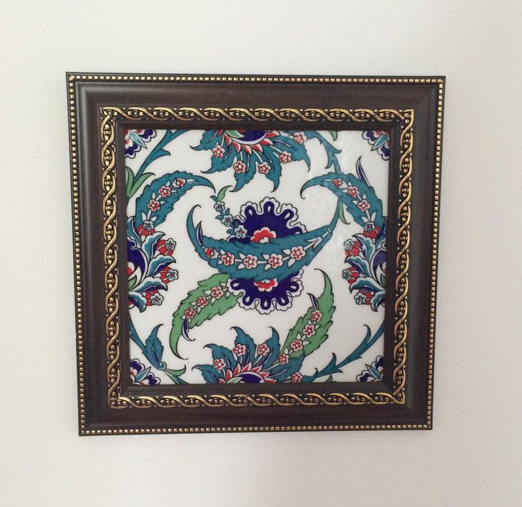 IZNIK CERAMIC TILE WITH FRAME
