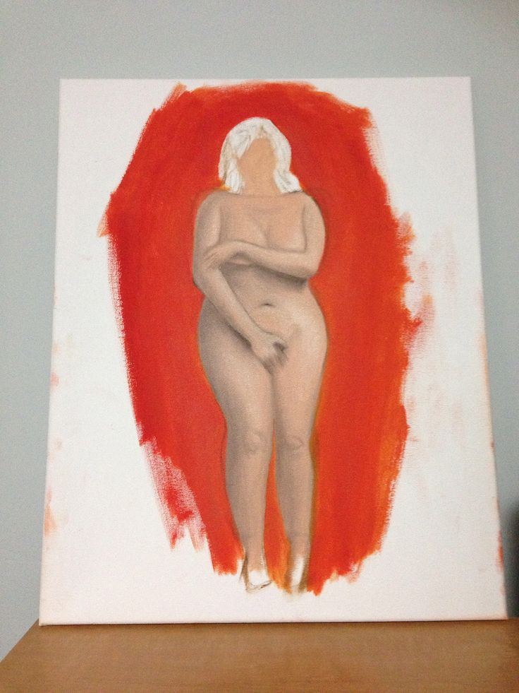 The Body: water mixable oil on canvas study