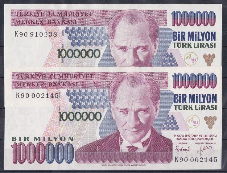7.EMİSYON 1 000 000 LİRA K90 TAKIM.ÇİL - 250 TL