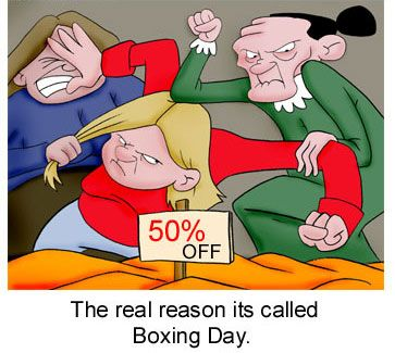 Happy Boxing Day! Remember you still have to be nice and NO actual hitting of other patrons while shopping or in line for returns. #returnlines #Noooo #BeNice