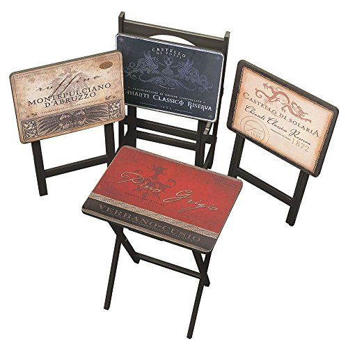 Cape Craftsman TV Tray Set with Stand, Tuscan Wine, Set of 4  http://www.mytimehome.com/cape-craftsman-tv-tray-set-with-stand-tuscan-wine-set-of-4/