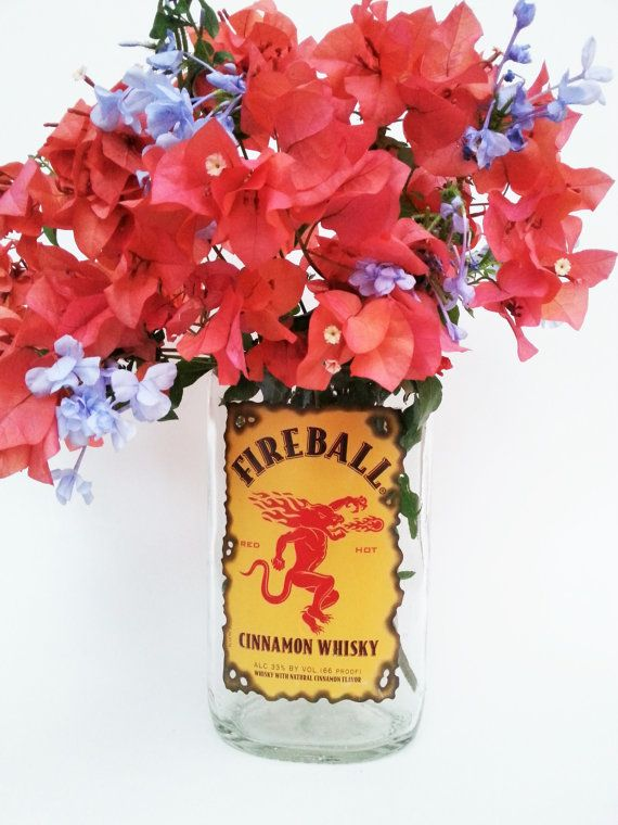 Fire Ball Vase make a hot Flower Vase or Whiskey Gifts by #LookingSharpCactus on Etsy www.etsy/shop/lookingsharpcactus.com