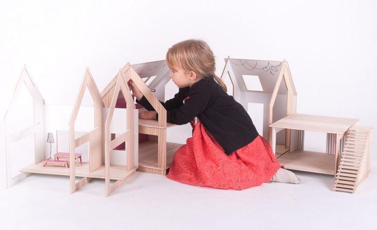 dekorowanie przez dzieci | TAMIDO - domek dla lalek | modern dollhouse