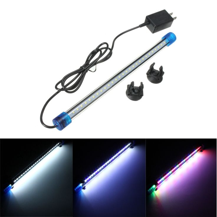 30CM 1.5W 2835 27 SMD Aquarium Fish Tank Blue White RGB LED Light Bar Submersible Down Lamp Waterproof AC220V