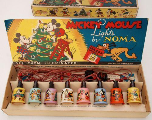 Walt Disney Enterprises Mickey Mouse Noma Christmas Light Set in Box Great   eBay