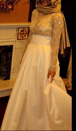 #Hijab Engagement Gown.