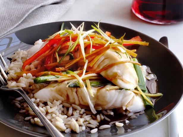 Get Asian Steamed Fish Recipe from Food Network