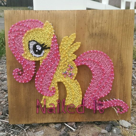 My little pony Fluttershy string art by Naileditartbydian on Etsy