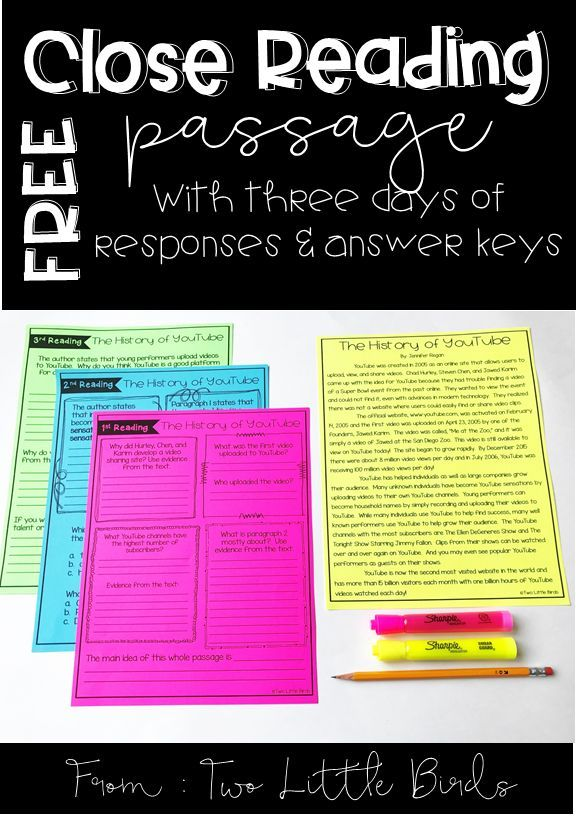 Grades 3-5: A FREE 15 page guide to get close reading started and organized in your classroom!  What is close reading, teacher checklist, 5 steps to a successful close reading lesson, folder labels, group labels, teacher quick notes PLUS a passage with three days of response pages and answer sheets!