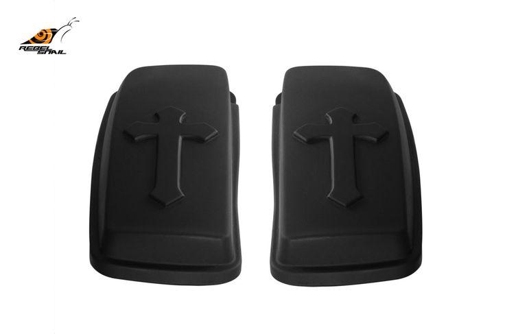 RS hard saddlebag lids cross design for touring 2014 Image