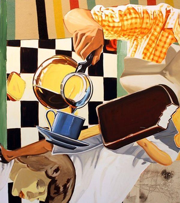 David Salle, Pour, Blanket, Wind, 2013