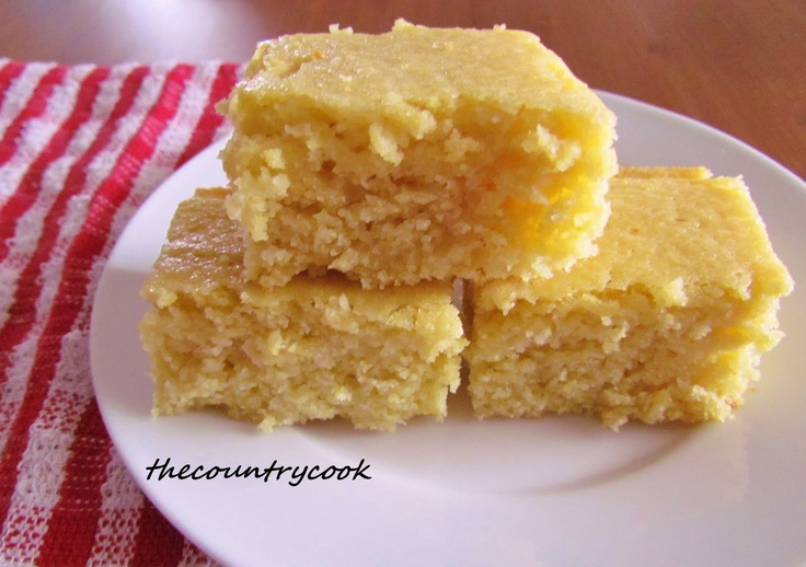 Sweet Southern Cornbread Ingredients:  2 tbsp. honey  1 egg  4 tbsp. butter (melted)  ½ cup milk  ½ cup water  ½ cup sugar  1 cup yellow corn meal  1 cup all-purpose flour  ½ tbsp. baking powder  ½ tsp. salt