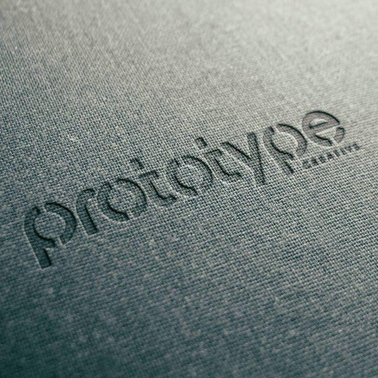 Prototype Creative Logo Design - 3D Logo on texture