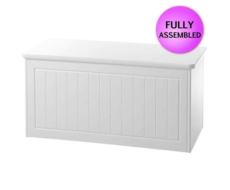 Warwick White Wooden Blanket Box - FREE UK
