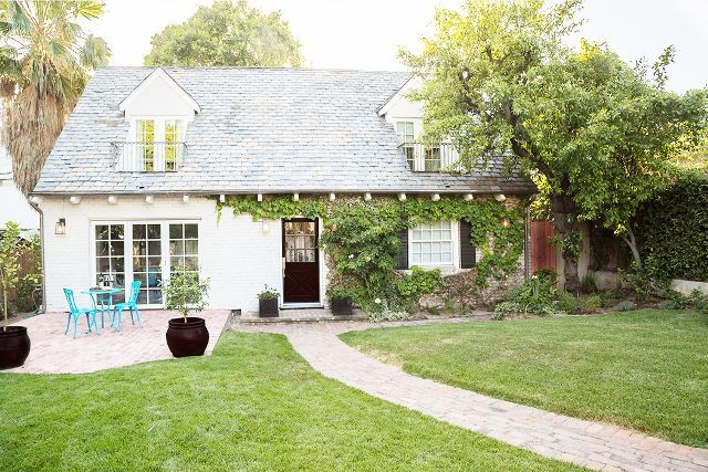 Melissa Joan Hart and her musician husband, Mark Wilkerson, planted roots in Los Angeles with the purchase of traditional cottage across the street from CBS Studios. It's of a completely different style than every home the pair lived in previously, and it has presented a fun opportunity for them to experiment