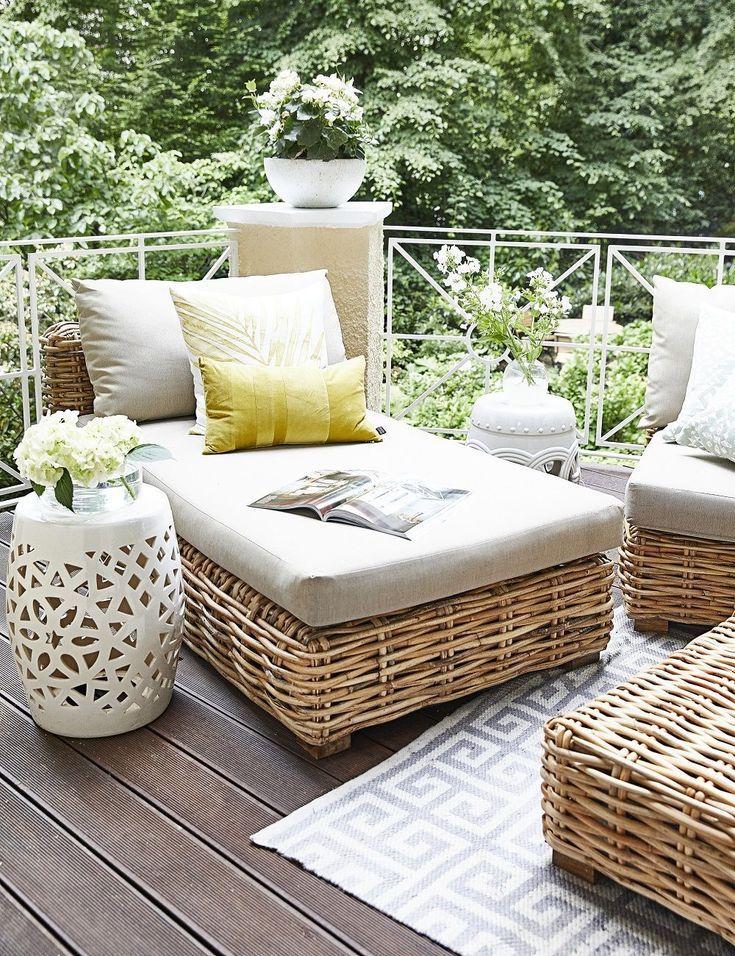 Summer Vibes! Auf dieser wunderschönen Terrasse kann man sich nur Wohlfühlen