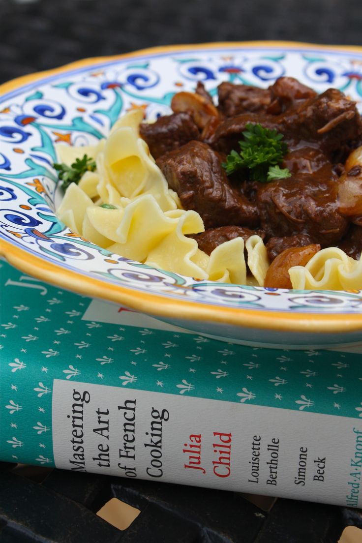 Julia Child's Beef Bourguignon...took forever to make but it was super yummy!