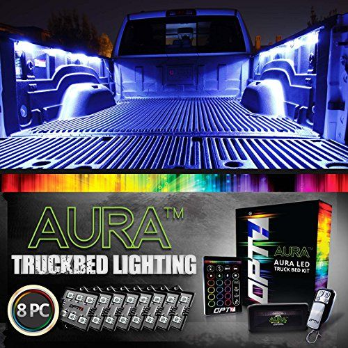 AURA LED 8pc Truck Bed Lighting Kit - Multi-Color Bright Work Light - Sound Activated Music - Wireless Remote - OE-Style Rocker Switch - Easy Install - Tailgate Pin Switch - 2 Yr Warranty - http://www.caraccessoriesonlinemarket.com/aura-led-8pc-truck-bed-lighting-kit-multi-color-bright-work-light-sound-activated-music-wireless-remote-oe-style-rocker-switch-easy-install-tailgate-pin-switch-2-yr-warranty/  #Activated, #Aura, #Bright, #Easy, #Install, #Light, #Lighting, #Multi