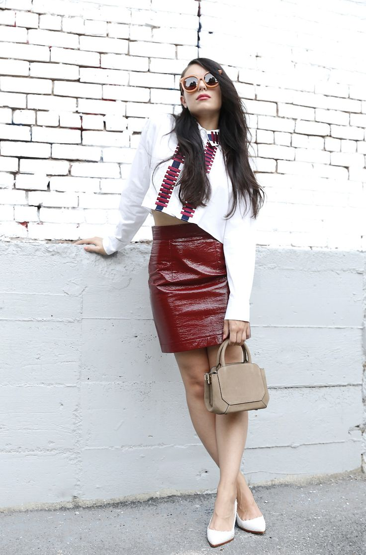 colored leather skirts and how to wear them 2017