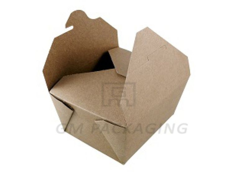 Brown Kraft Food Boxes-No.1  Easiest opening and closing mechanism on the market.