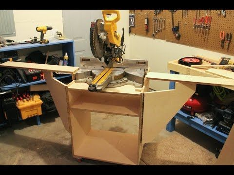 How Build a Folding Miter Saw Stand - Artistic Wood Products