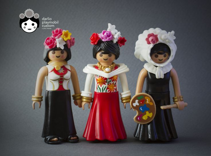 My three versions of Frida Playmobil custom