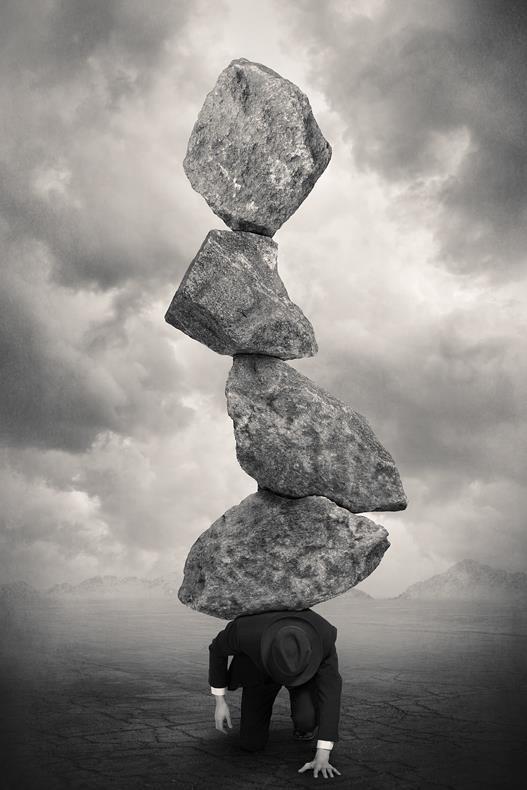 Tommy Ingberg. piedras surreal byn peso espalda