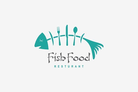 Fish Food Restaurant Logo by A.R STUDIO on @creativemarket