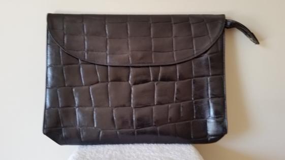 Round She Goes - Market Place - Carla Zampatti leather briefcase/portfolio case