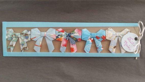 Assortiment de Noeuds Origami Bleu Fantaisies