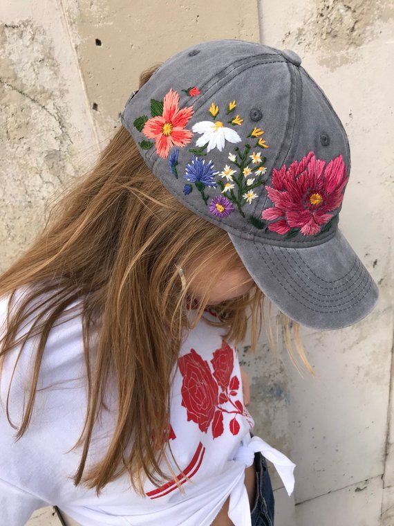 Hand Embroidered Hat, Embroidered Baseball Caps, Custom Embroidered