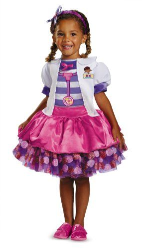 This is what my daughter wants to be for #Halloween  Disguise Disney Doc Mcstuffins Tutu Deluxe Toddler Costume, Large/4-6x Disguise Costumes