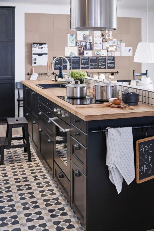 17 best cuisine maison images on Pinterest Kitchen ideas, Black