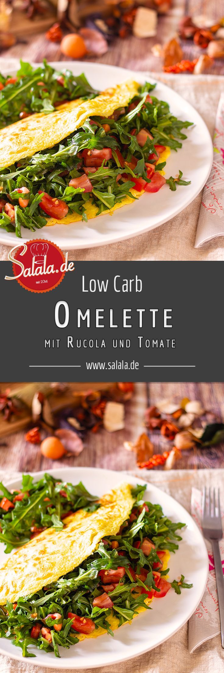 Tomate-Ruccola-Omelette – Leckere LCHF Rezept-Ideen
