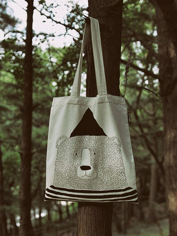 Delibear ecobag by DeliTime on Etsy