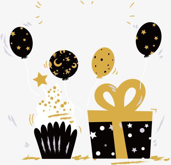 حفلة عيد ميلاد لون الذهب الأسود قصاصات فنية ملونة عيد ميلاد ناقلات بابوا نيو غينيا Png وملف Psd للتحميل مجانا Birthday Greetings Birthday Party Gift Birthday Clipart