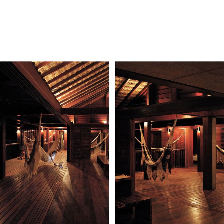 Behbahani Hall Architects / Beach House Preà, Brazil / Atmosphere, relax, hammocks, timber deck, palm thatch roof, outdoor living, kite surfing paradise