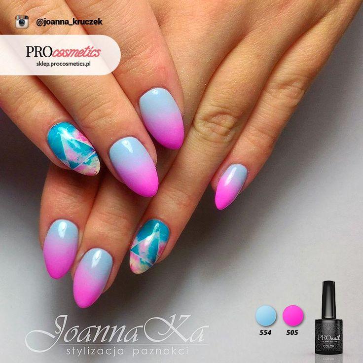 Pomysły na paznokcie #3 - Ombre niebieskie z różem - Sklep Procosmetics.pl