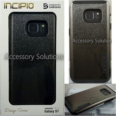 INCIPIO Samsung Galaxy S7 DualPRO GLITTER Glam Case Sparkly [Design] BLACK
